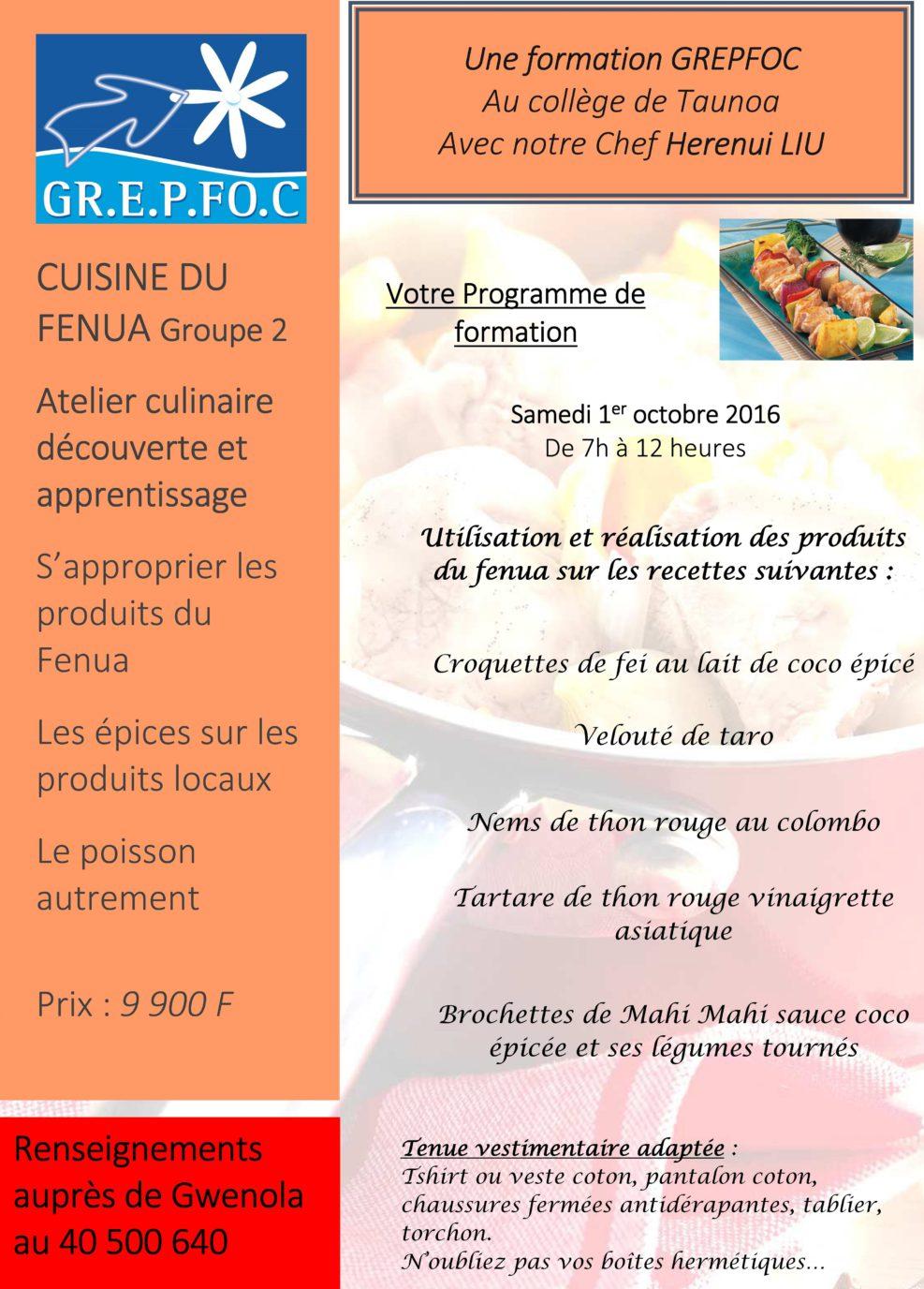 Affiche cuisine du fenua 1016