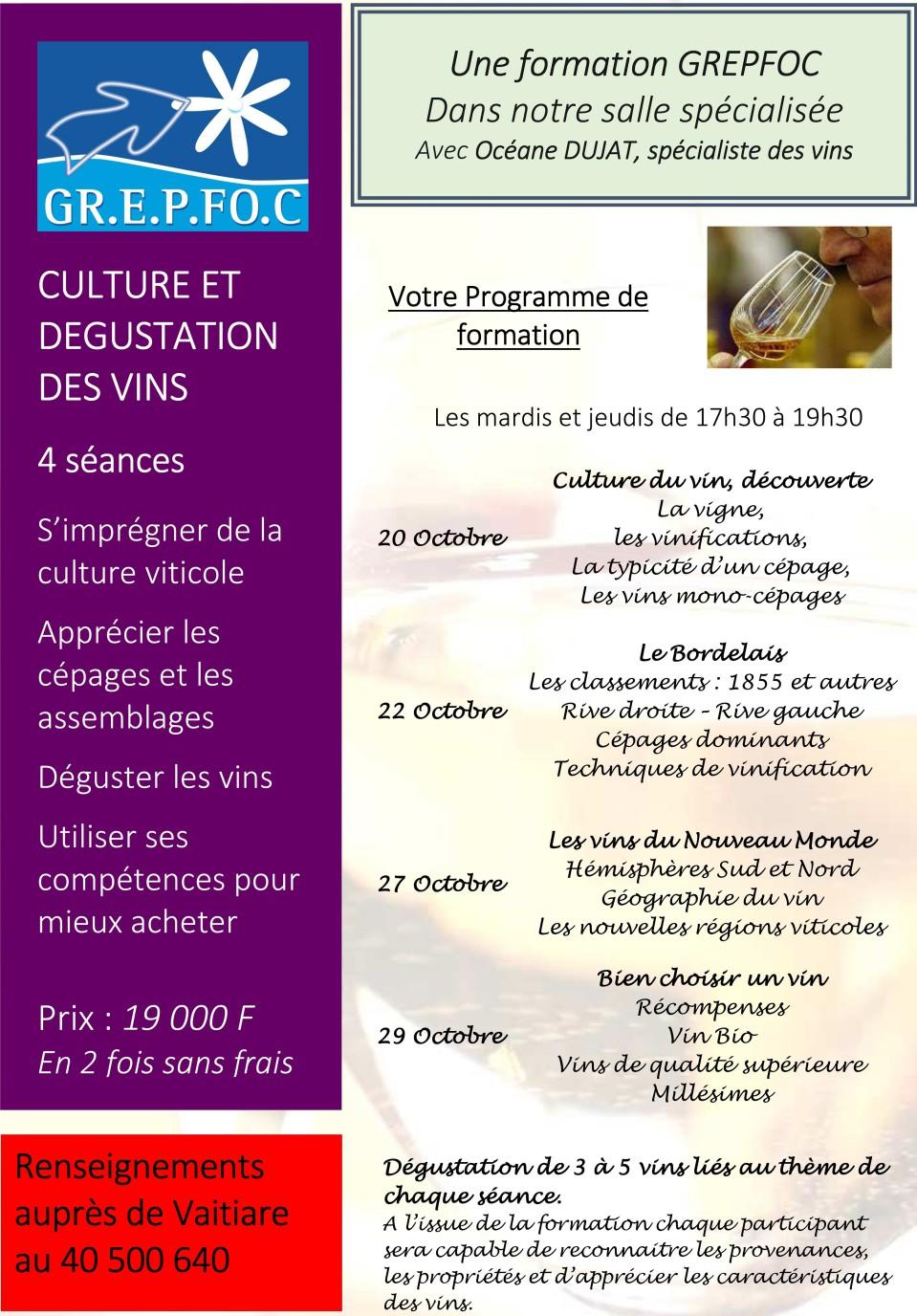 Culture et d gustation des vins - Brevet professionnel cuisine ...